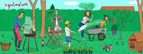 famille jardin
