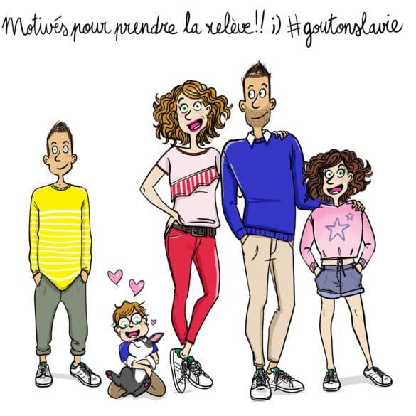 famille yoplait Laetitia aynié illustrations