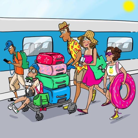 famille quai de la gare