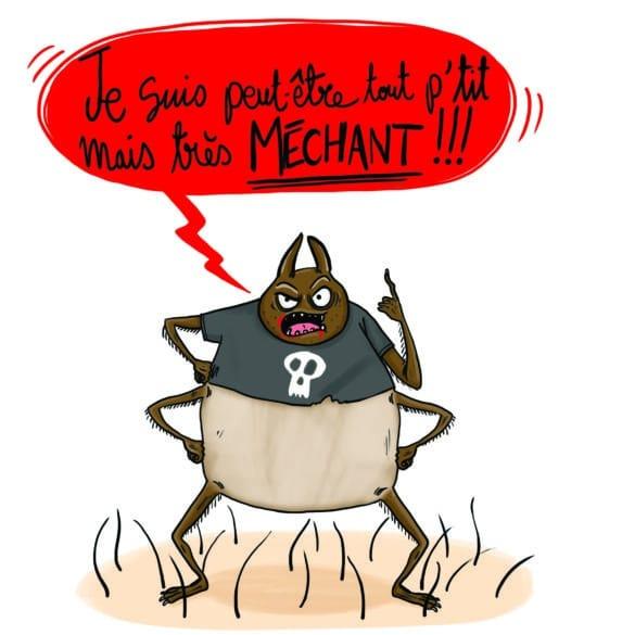 tique. piqure mechant humour Laetitia aynié illustrations