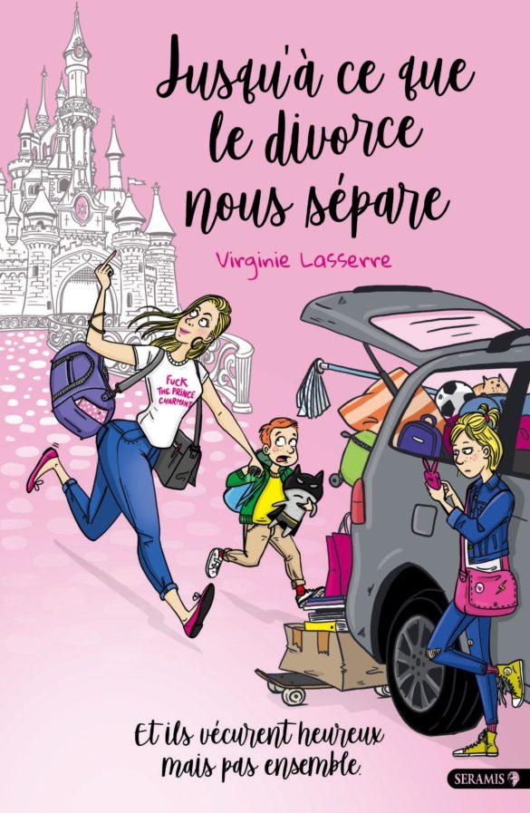 chateau femme qui court voiture enfants Laetitia aynié illustrations