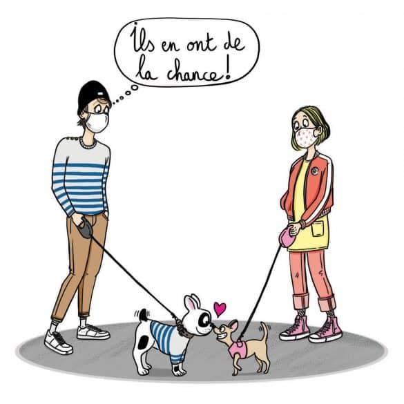 le monde des ados_presse_confinement _ados_chiens_Laetitia aynié illustrations