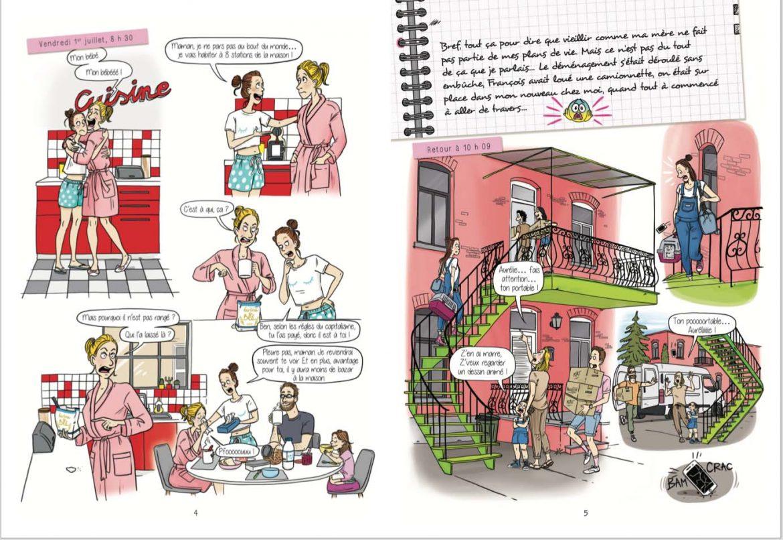 Aurelie Laflamme_Laetitia aynié illustrationsé_india Desjardins_bande dessinée