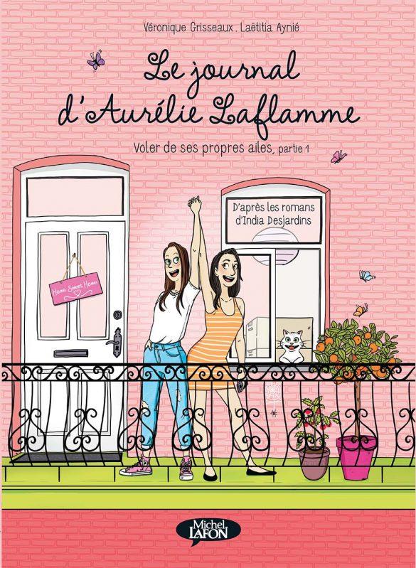 Aurelie Laflamme_Laetitia aynié illustrations_india Desjardins_bande dessinée_couverture