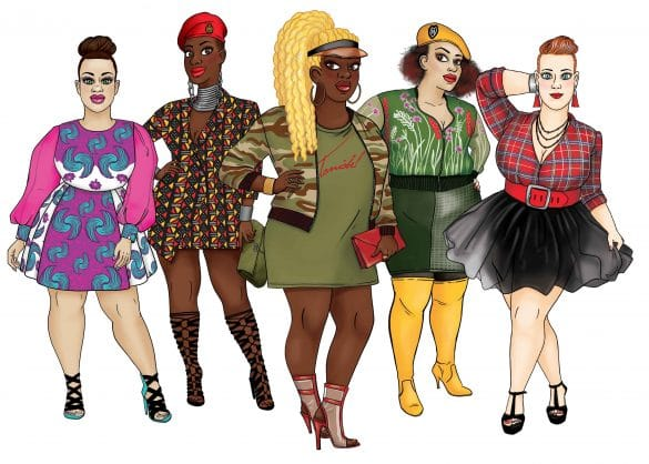 illustrations Taniabel marque de vêtement femme ronde fashion mode Paris