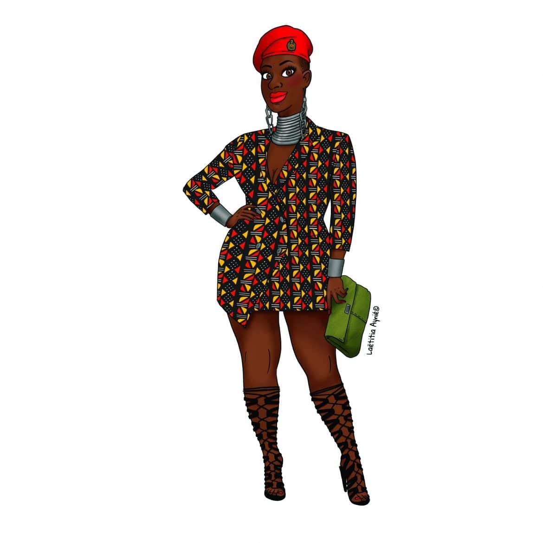 illustration Taniabel marque de vêtement femme ronde fashion mode Paris